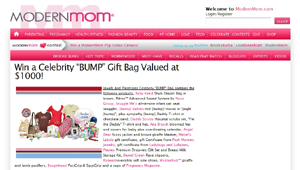 Modernmom.com winner of our 4th Quarter Celebrity BUMP Bag Giveaway
